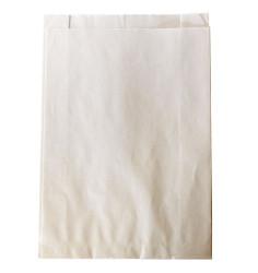 500 sachets à soufflets en kraft ingraissable blanc 23+6x34cm