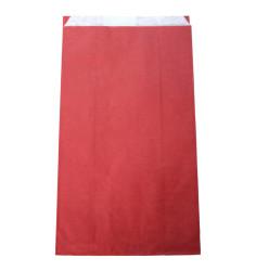 800 sacs papier à soufflets lie de vin 27+6x48 cm
