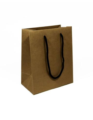 20 Sacs boutique luxe kraft brun 18 + 10 x 22 cm