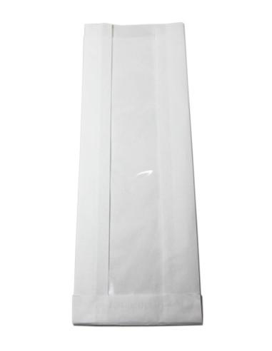 1000 Sacs soufflets à fenêtre 12 + 4,5 x 34 cm