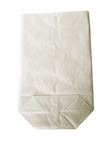1000 Sacs écornés n°8 kraft blanc 1kg farine
